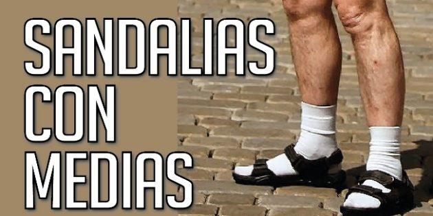 sandalias con medias