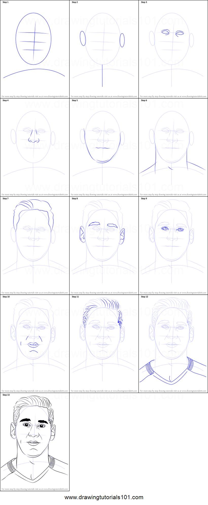 dibujos fáciles lionel messi paso a paso personajes famosos animado dibujar este ídolo del fútbol
