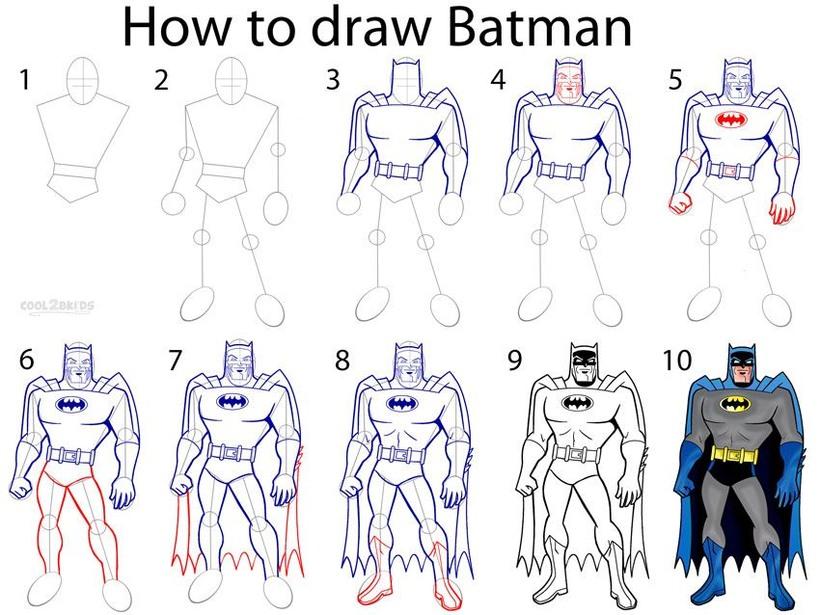 dibujos fáciles batman paso a paso personajes famosos animados dibujar este personaje cartoon heroe