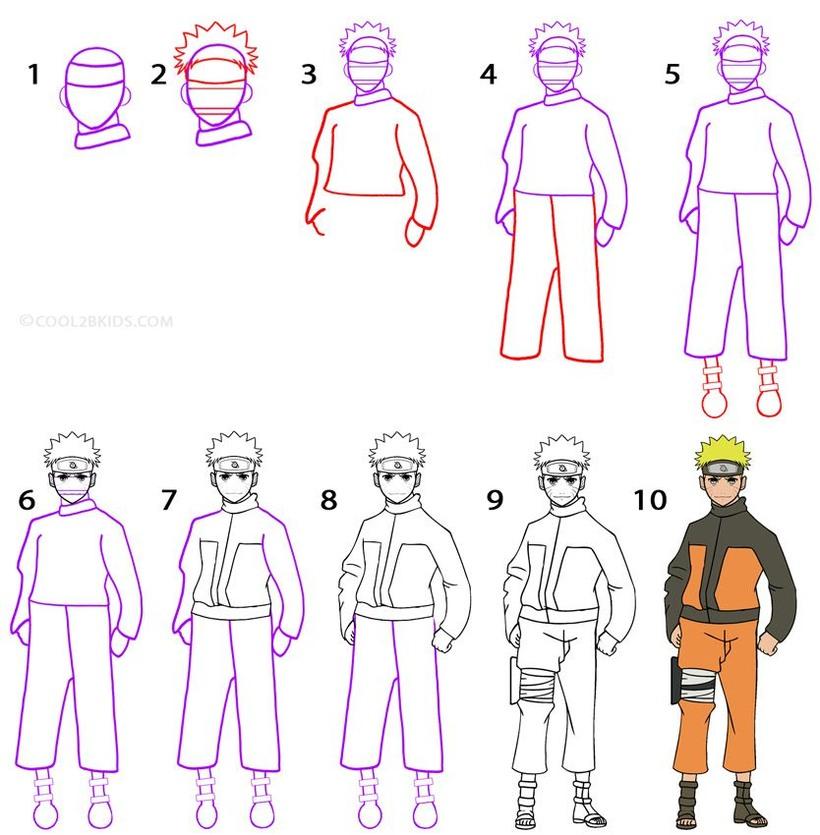 dibujos fáciles Naruto dibujar este personaje cartoon heroe animé