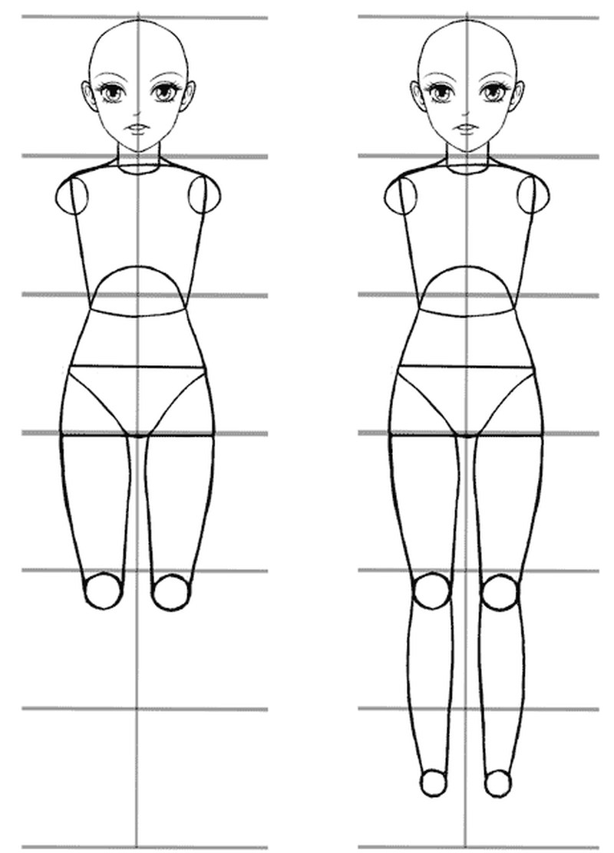 anime cuerpo dibujar pasos partes 2