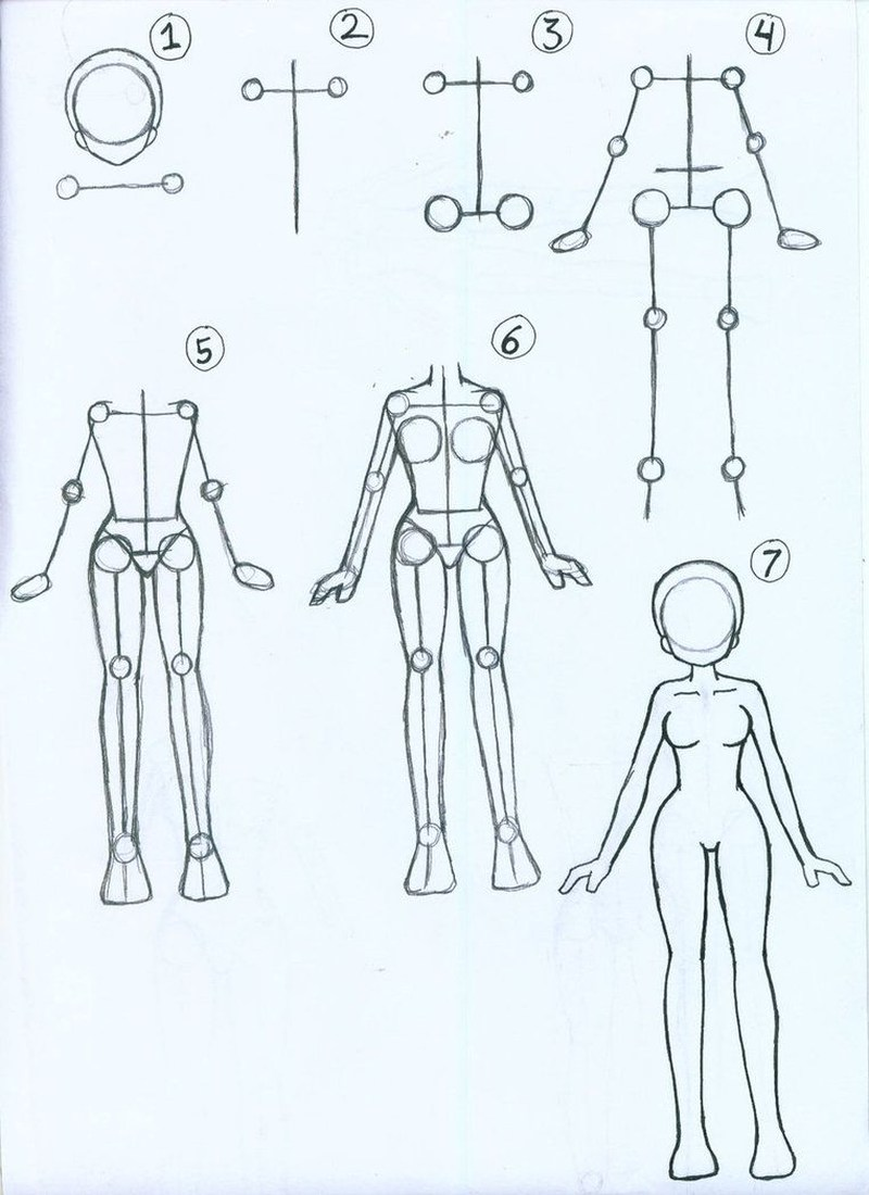 chica anime dibujar cuerpos de mujer personaje dibujos fáciles paso a paso a lápiz