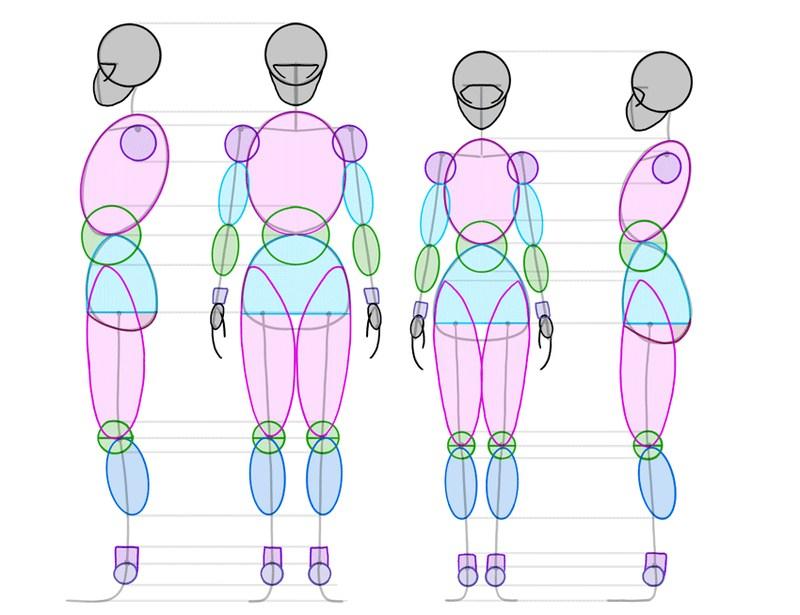 humano dibujar cuerpos enteros personaje dibujos fáciles paso a paso a lápiz