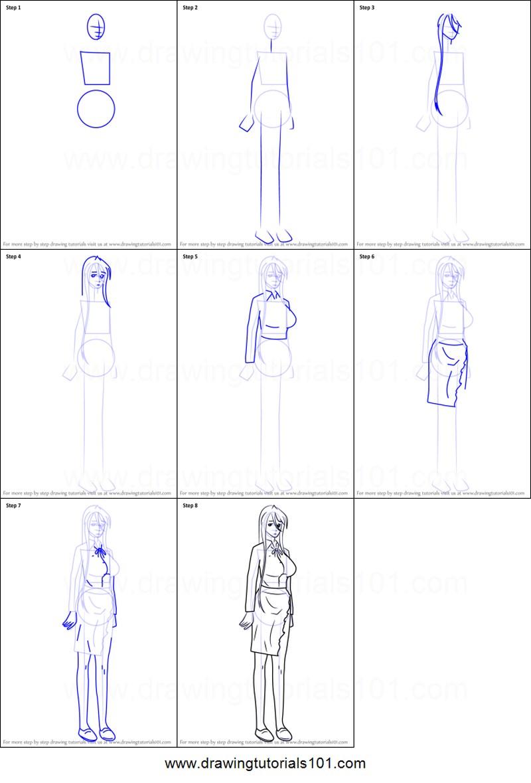 mujer anime dibujar cuerpos personaje dibujos fáciles paso a paso a lápiz