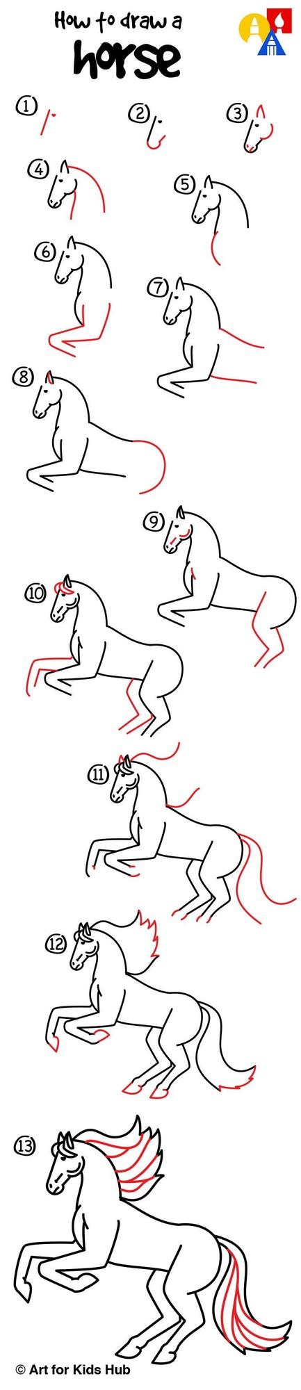 caballos caballitos dibujos fáciles a lápiz paso a paso realista