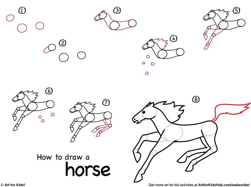 caballos caballitos dibujos fáciles a lápiz paso a paso animado realista