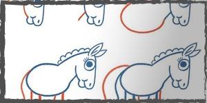 caballos dibujos faciles