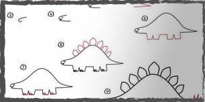 dinosaurios dibujos faciles