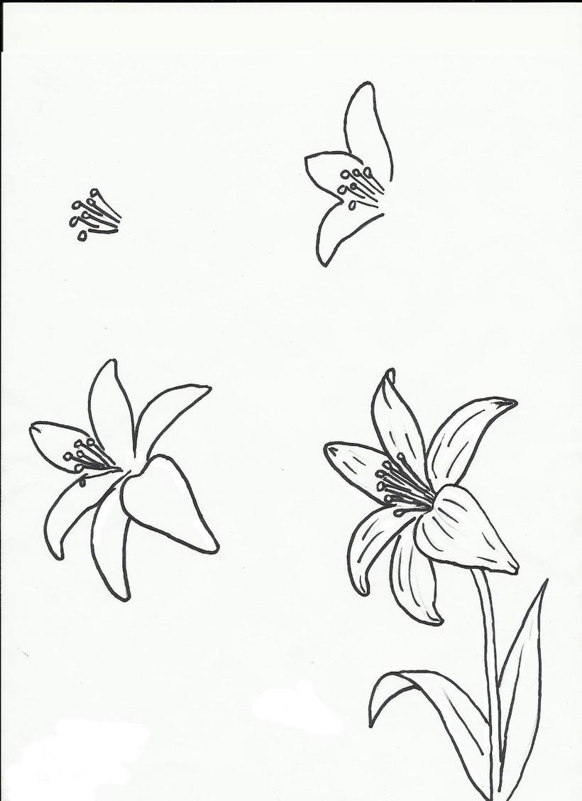 flor dibujos fáciles