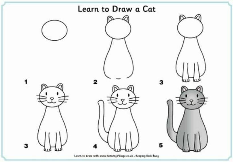 gatos bonitos guía paso a paso dibujar gato dibujos faciles
