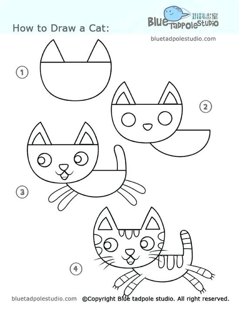 gatos con rayas rayados gato dibujos faciles tutorial paso a paso para pintar