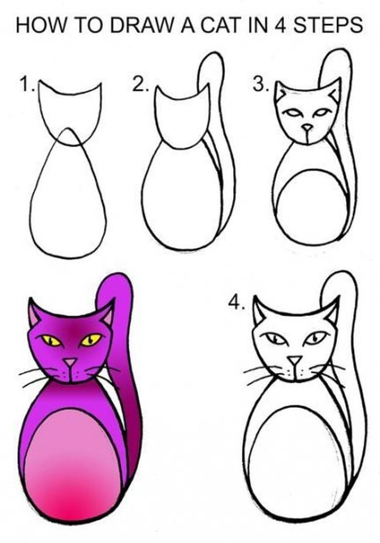 gatos gato dibujos fáciles en pocos pasos descargar gratis