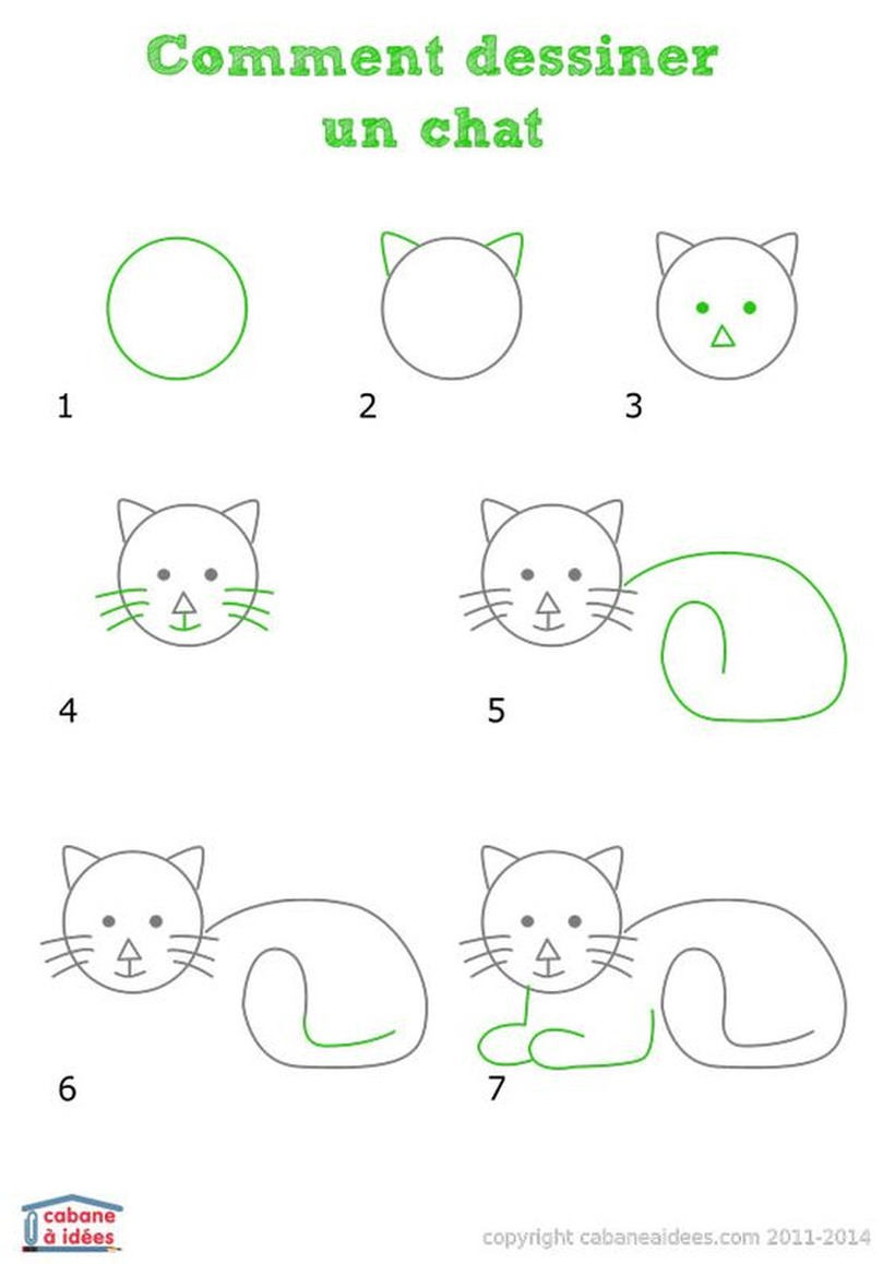 gatos gato dibujos infantiles faciles de tiernos gatitos paso a paso a lápiz