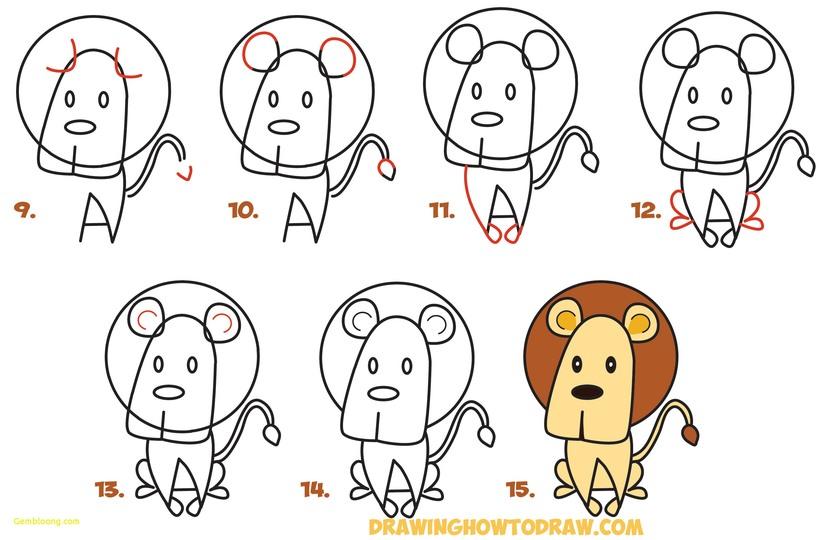 leon leones dibujos faciles 14