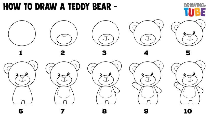 oso osos de peluche dibujos faciles paso a paso tutorial