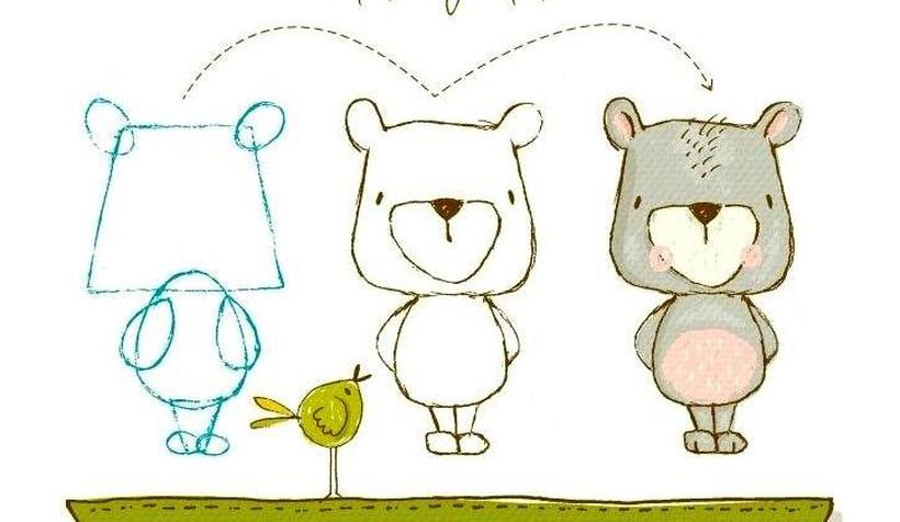 oso osos dibujos faciles y bonitos para niños