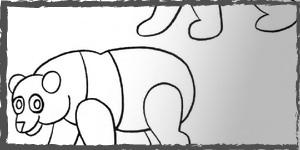 osos dibujos faciles