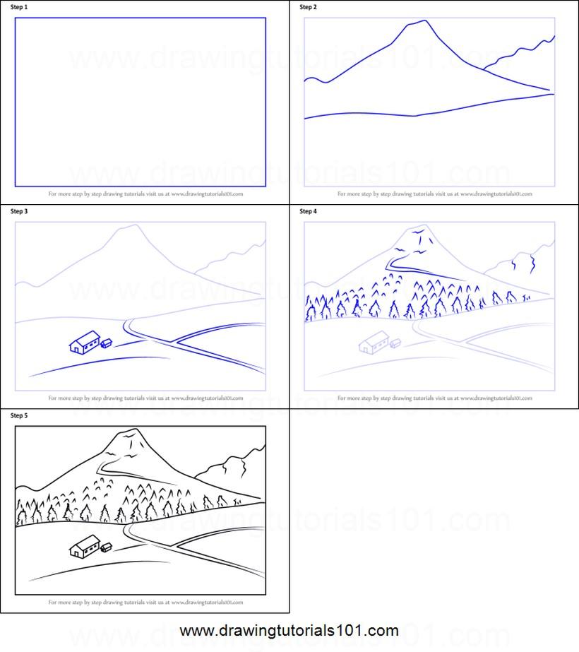 Paisajes Dibujos Fáciles A Lápiz Paso A Paso
