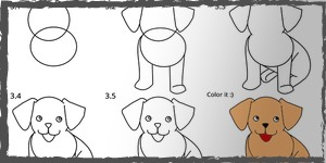 perros dibujos faciles