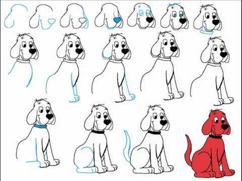 dibujos fáciles clifford el gran perro rojo paso a paso personajes famosos animados dibujar este personaje cartoon heroe perros perritos