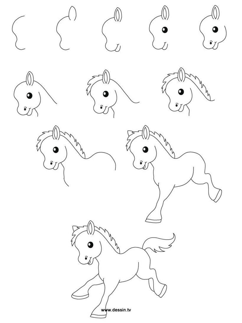 dibujos fáciles de unicornios para hacer a lápiz con niños paso a paso cuerpo entero